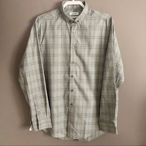 Calvin Klein Slim Fit Non Iron Gray Dress Shirt